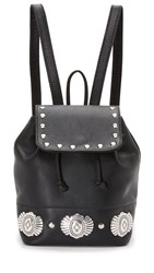 Erin Dana Mini Drawstring Backpack Black