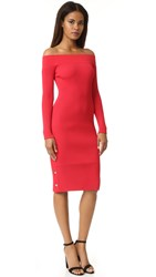 C Meo Collective Life Is Real Knit Dress Salsa Red