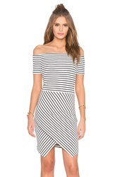 1. State Off Shoulder Envelope Dress Black And White