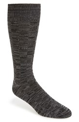 Calibrate Men's Grid Socks Black Charcoal Twist