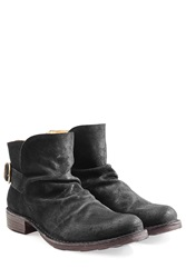 Fiorentini And Baker Suede Ankle Boots Black