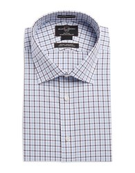 Black Brown Plaid Check Dress Shirt Blue