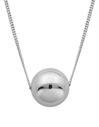 Lord And Taylor High Polished Ball Necklace Silver
