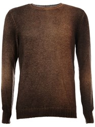 Avant Toi Faded Effect Jumper Brown