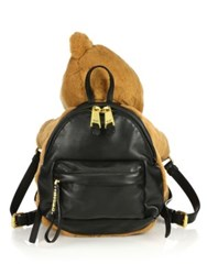 Moschino Teddy Bear Leather Backpack Brown Black
