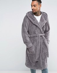 Asos Loungewear Extreme Oversized Dressing Gown Smoked Pearl Grey