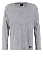 Solid Donny Long Sleeved Top Grey Melange Mottled Grey