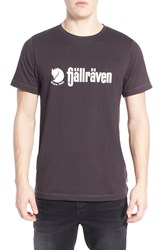 Fjall Raven Men's Fj Llr Ven 'Retro' Organic Cotton Graphic T Shirt Dark Grey