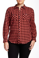 Sandra Ingrish Check Long Sleeve Shirt Plus Size Multi
