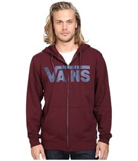 Vans Classic Zip Hoodie Port Royale Dress Blues Men's Sweatshirt Red