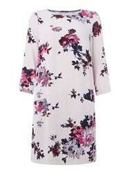 Joules Woven Printed Shift Dress Off White