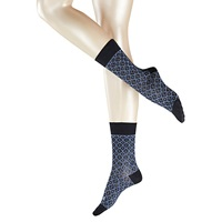 Falke Tile Print Ankle Socks Pack Of 1 Blue Navy