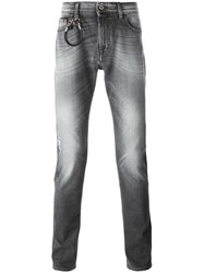 7 For All Mankind Slim Fit Jeans Grey