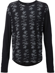 Ann Demeulemeester Printed Long Sleeve T Shirt
