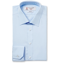 Turnbull And Asser Blue Cotton Shirt