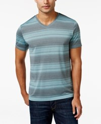Alfani Men's Big And Tall V Neck Striped T Shirt Only At Macy's