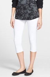 Nordstrom 'Go To' Capri Leggings White