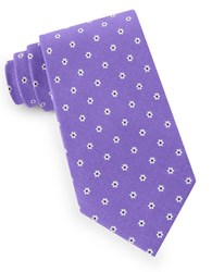 Lord And Taylor Floral Dot Tie Purple