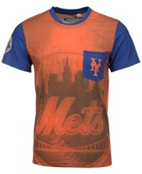 Forever Collectibles Men's New York Mets Pocket Sublimated T Shirt Orange Royalblue