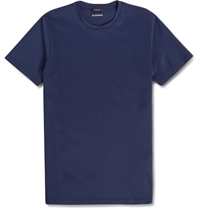Jil Sander Cotton Jersey T Shirt Blue