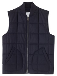 Jigsaw Lambswool Padded Gilet Navy