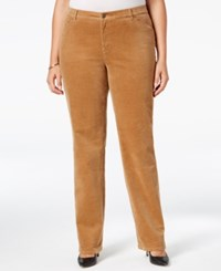 Charter Club Plus Size Tummy Control Corduroy Pants Only At Macy's Salty Nut