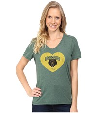 Life Is Good Baylor Heart Short Sleeve Tee Dark Green Women's T Shirt