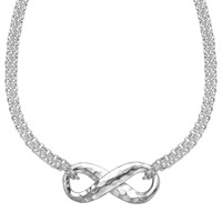 Dower And Hall Sterling Silver Infinity Pendant Necklace Silver