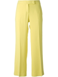 Emilio Pucci Cropped Tailored Trousers Yellow And Orange