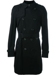 Burberry Prorsum Classic Double Breasted Coat Black