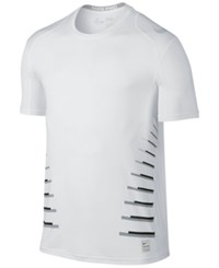 Nike Men's Pro Cool Fitted T Shirt White