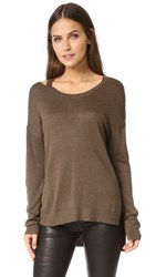 Feel The Piece Drew Lightweight Sweater Olive