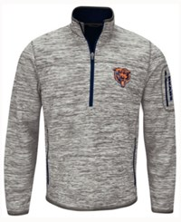 G3 Sports Men's Chicago Bears Fast Pace Quarter Zip Pullover Gray Navy