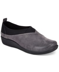 Clarks Collection Women's Cloud Steppers Sillian Greer Sneakers Women's Shoes Grey Nubuck