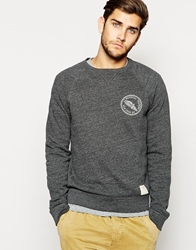 Abercrombie And Fitch Sweat With Crew Neck And Chest Print Grey