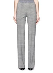Theory 'Demitria Df' Glen Plaid Virgin Wool Flare Pants Multi Colour