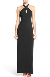 Ali And Jay Women's Cutout Halter Gown