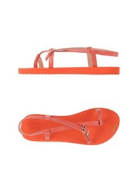 Flip Flop Thong Sandals Red