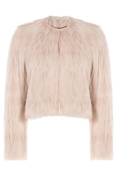Red Valentino Faux Fur Jacket Rose