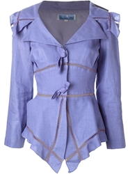 Thierry Mugler Vintage Skirt Suit Pink And Purple