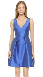 Monique Lhuillier Sleeveless Dress Cobalt