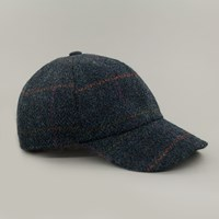 John Hanly And Co. Tweed Baseball Cap Blue