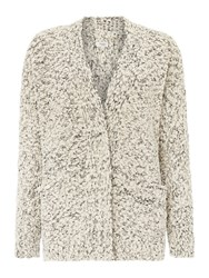 Hoss Intropia Longsleeve Textured Knit Cardi Ivory
