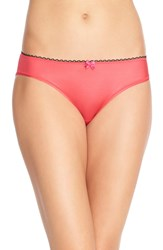 Betsey Johnson Cutout Cheeky Bikini Red Hot