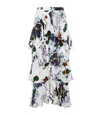 Erdem Simone Ruffle Midi Skirt Female White