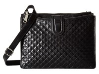 Hobo Goldie Diamond Embossed Black Cross Body Handbags