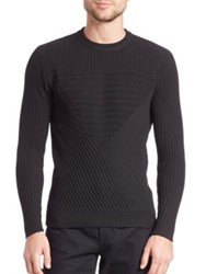 Public School Moving Triangle Ribbed Pullover Black