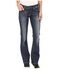 Rock And Roll Cowgirl Mid Rise Bootcut In Dark Vintage W1 7368 Dark Vintage Women's Jeans Navy