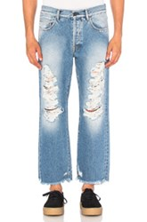 Palm Angels Ripped Jeans In Blue