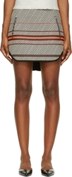 Rag And Bone White And Black Multi Stripe Bess Mini Skirt
